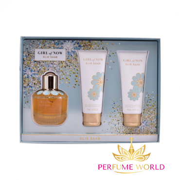 Gift Elie Saab Girl Of Now 2018 3pc ( NH 50ml + Body Lotion 75ml + Shower Gel 75ml)