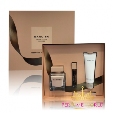 Gift Narciso Poudree 2018 3pc ( NH 90ml + NH 10ml + Body Lotion 75ml) Christnas