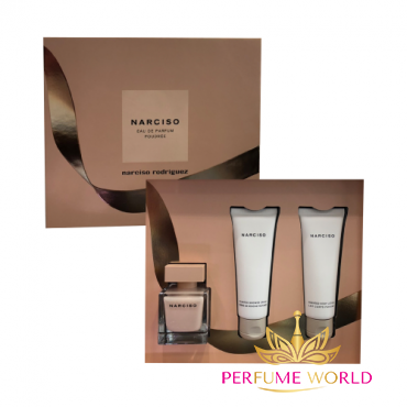 Gift Narciso Poudree 2018 3pc ( NH 90ml + Shower Cream 75ml + Body Lotion 75ml) Christnas