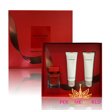Gift Narciso Rouge 2018 3pc ( NH 50ml + Shower Cream 75ml + Body Lotion 75ml ) CHRISMAS