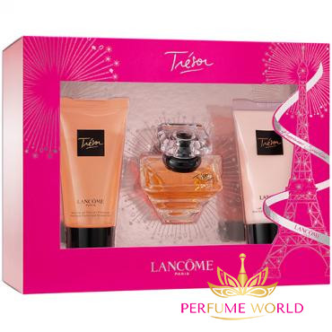 Gift Lancome Tresor 3pc ( NH 30ml + Body Lotion 50ml + Shower Gel 50ml )