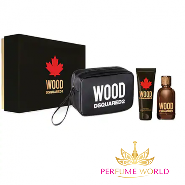 Gift Set: Dsquared2 Wood Man Pouch