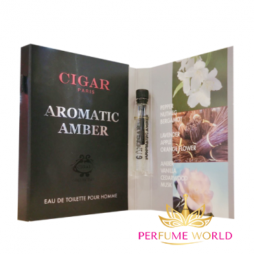 Vial Cigar Aromatic Amber Pour Homme EDT