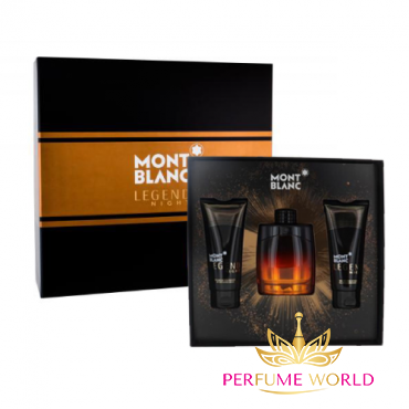 Gift Set Mont Blanc Legend Night EDP 3pcs